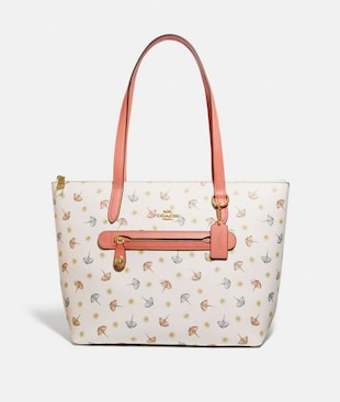TAYLOR TOTE WITH UMBRELLA PRINT