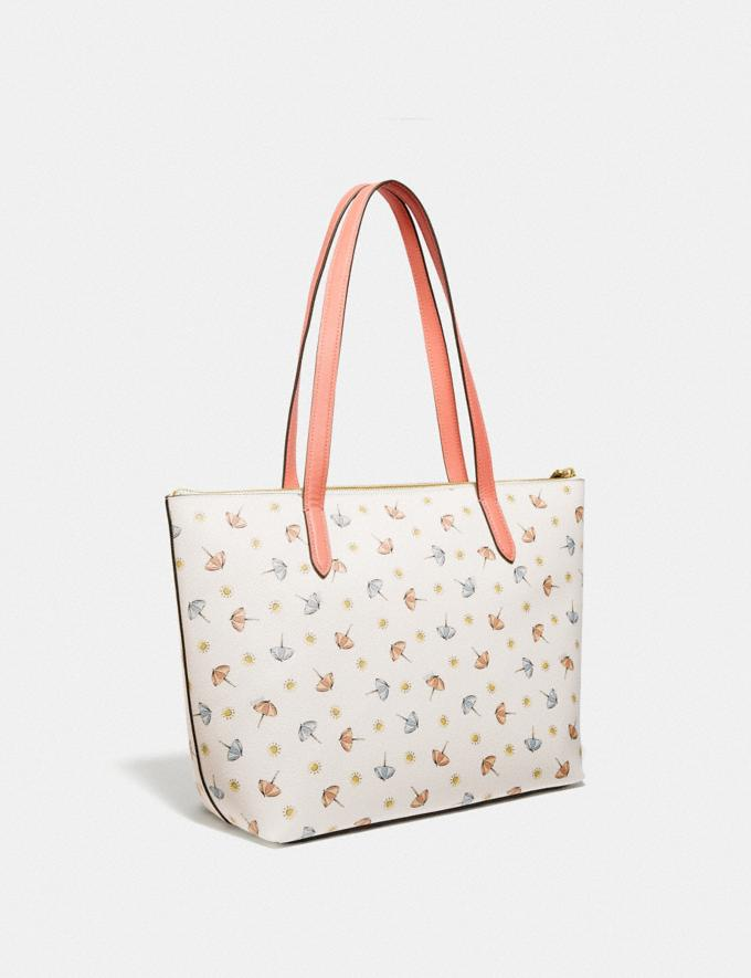 Coach Taylor Tote With Umbrella Print Gold/Chalk Multi/Light Coral Women Handbags Totes & Carryalls Alternate View 1