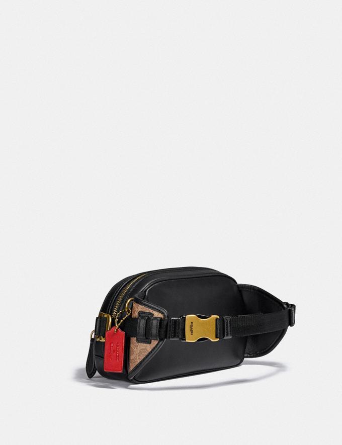 Coach Coach X Champion Belt Bag in Signature Canvas Brass/Khaki Multi  Alternate View 1