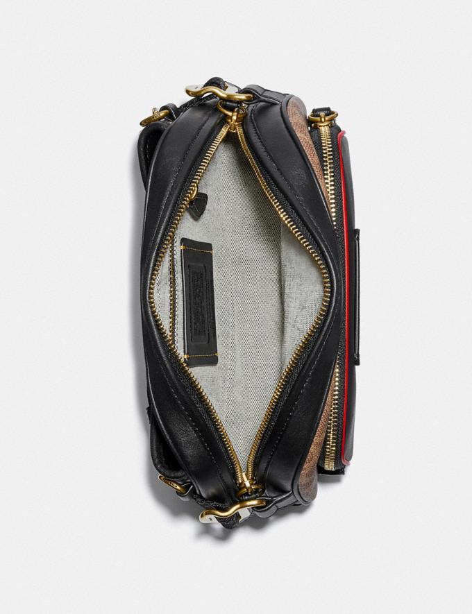 Coach Coach X Champion Belt Bag in Signature Canvas Brass/Khaki Multi  Alternate View 2