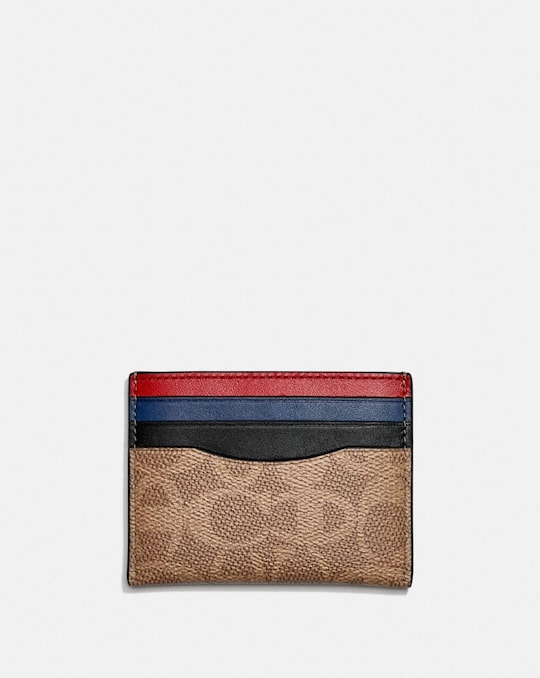 PORTE-CARTES EN TOILE EXCLUSIVE COACH X CHAMPION