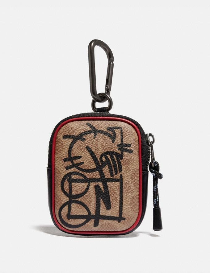 Coach Hybrid Pouch 8 in Signature Canvas With Abstract Horse and Carriage Khaki Multi Men Accessories Tech & Work