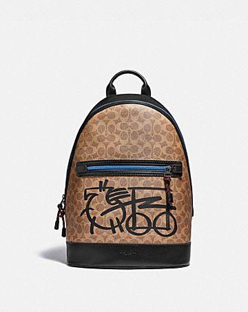 sac à dos barrow en toile exclusive avec motif de cheval et calèche abstrait
