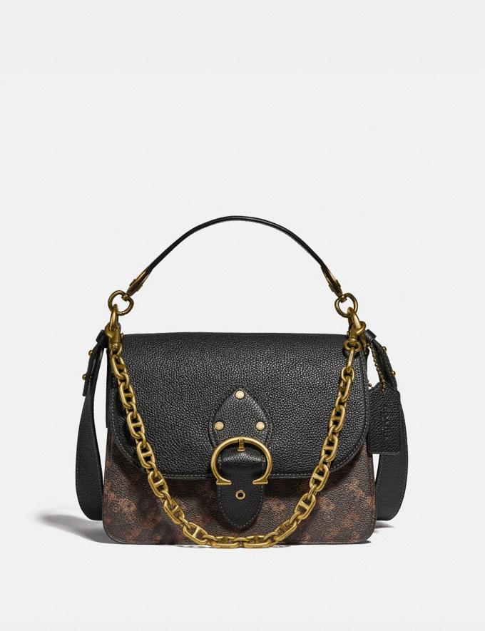 Coach Beat Shoulder Bag With Horse and Carriage Print B4/Black Brown