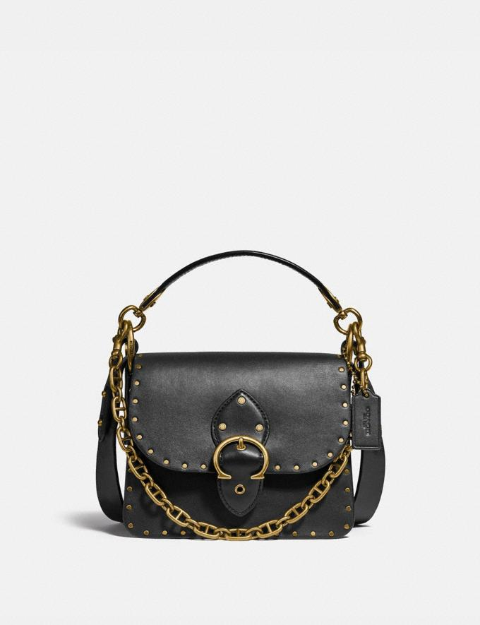 Coach Beat Shoulder Bag 18 With Rivets Brass/Black New Women's New Arrivals Bags