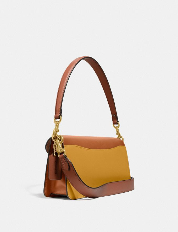 Coach Tabby Shoulder Bag 26 in Colorblock Signature Canvas B4/Tan Canyon Multi New Women's New Arrivals Bags Alternate View 1