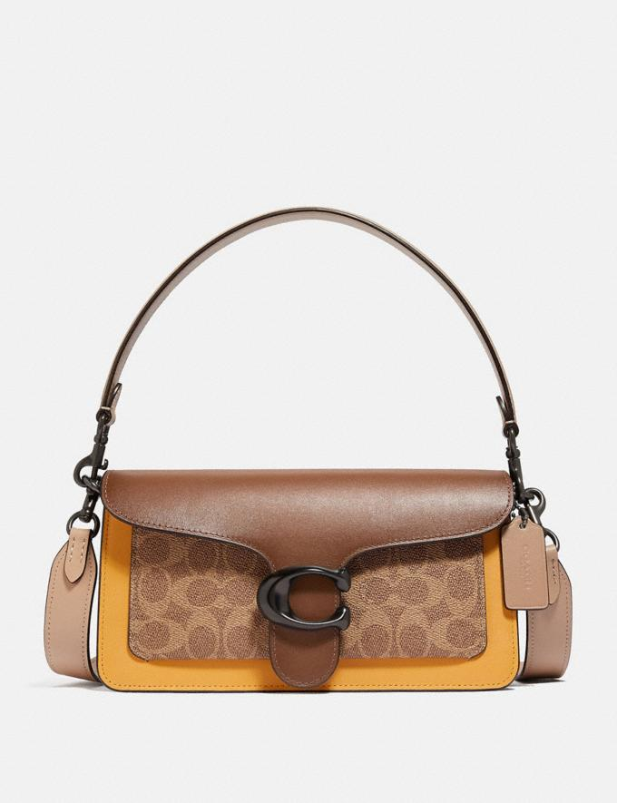 Coach Tabby Shoulder Bag 26 in Colorblock Signature Canvas V5/Tan Honeycomb Multi Seasonal Offers Women Bags