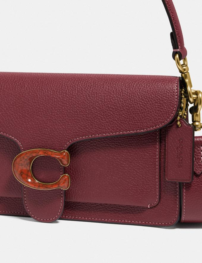 Coach Tabby Shoulder Bag 26 Brass/Wine Personalise For Her Bags Alternate View 4