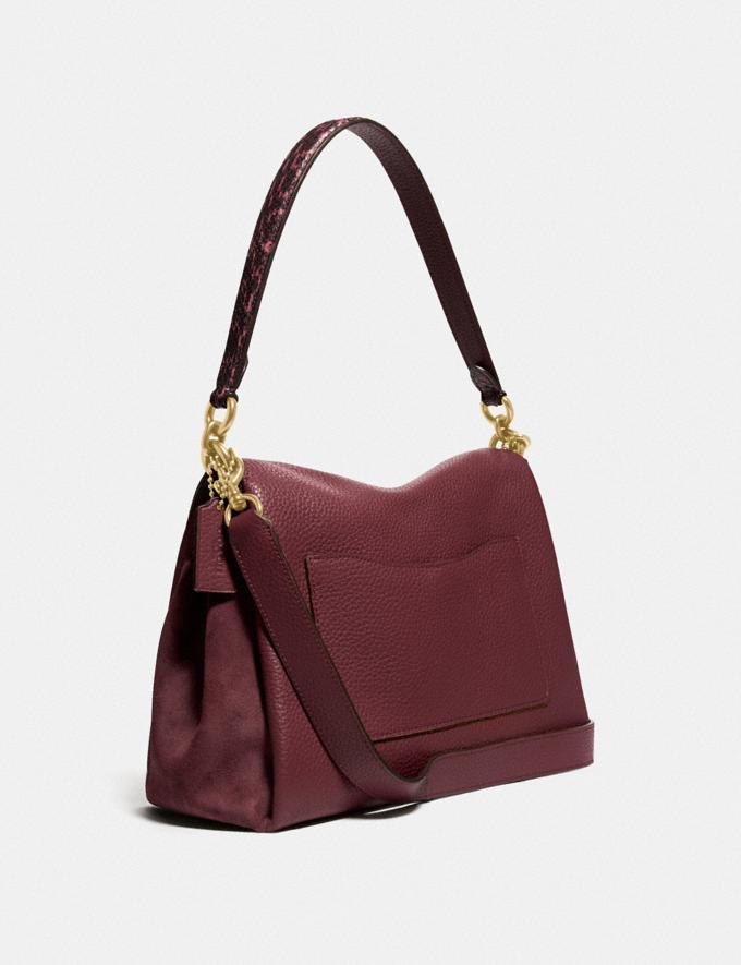 Coach May Shoulder Bag With Snakeskin Detail Brass/Wine New Featured Lunar New Year Alternate View 1