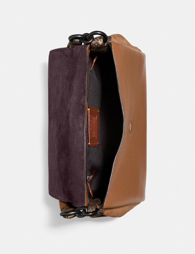 Coach Borsa a Tracolla May Con Dettaglio in Pelle Di Serpente V5/Cachi Vintage Donna Borse Tracolle Visualizzazione alternativa 3