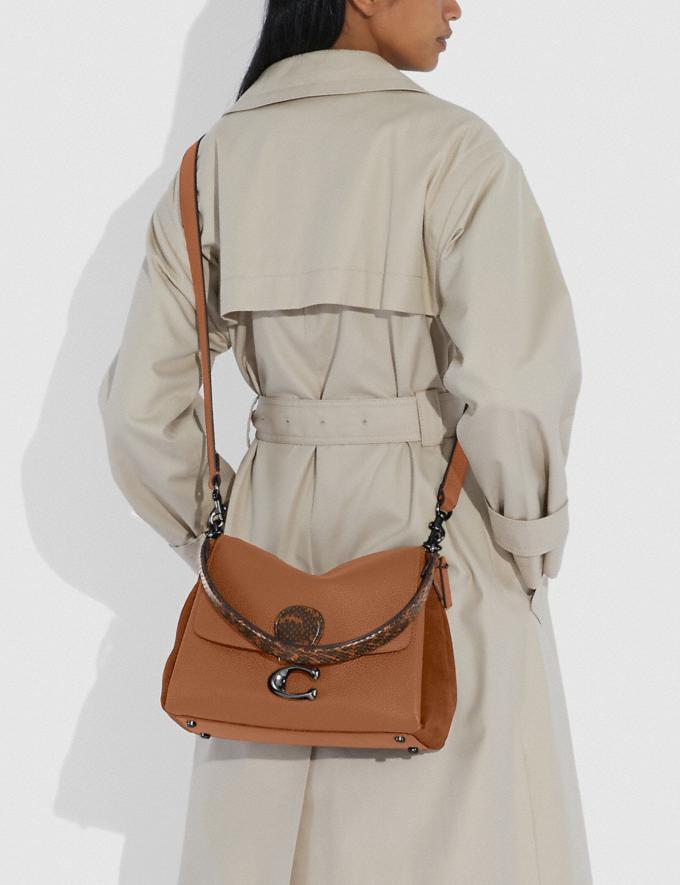 Coach Borsa a Tracolla May Con Dettaglio in Pelle Di Serpente V5/Cachi Vintage Donna Borse Tracolle Visualizzazione alternativa 4