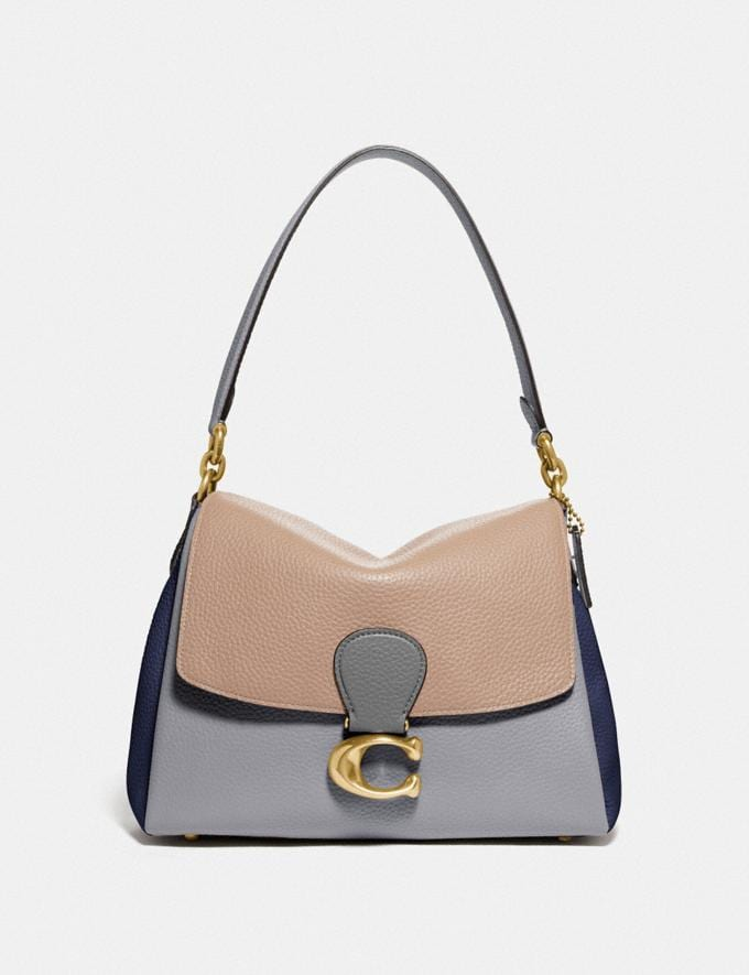 Coach May Shoulder Bag in Colorblock B4/Taupe Granite Multi
