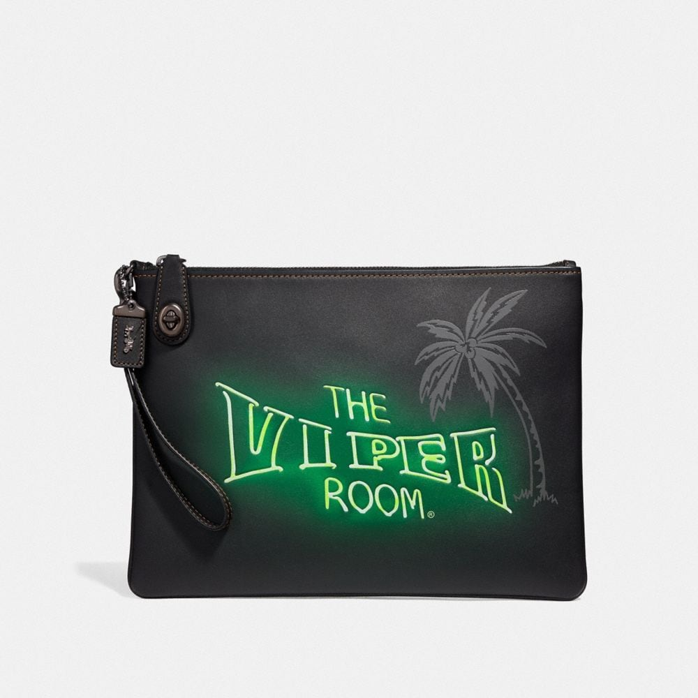 Coach Viper Room Turnlock Pouch
