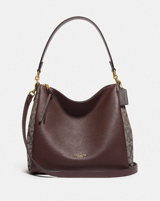 SHAY SHOULDER BAG IN SIGNATURE JACQUARD