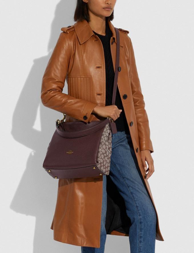 Coach Shay Shoulder Bag in Signature Jacquard B4/Oak Maple Women Bags Shoulder Bags Alternate View 3