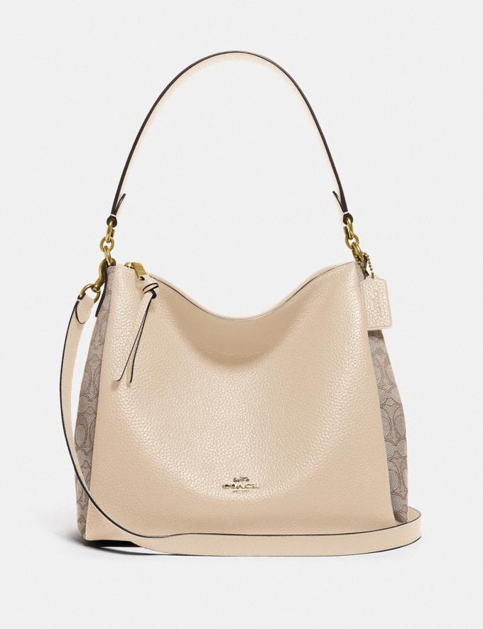 Coach Shay Shoulder Bag in Signature Jacquard B4/Stone Ivory Women Bags Shoulder Bags
