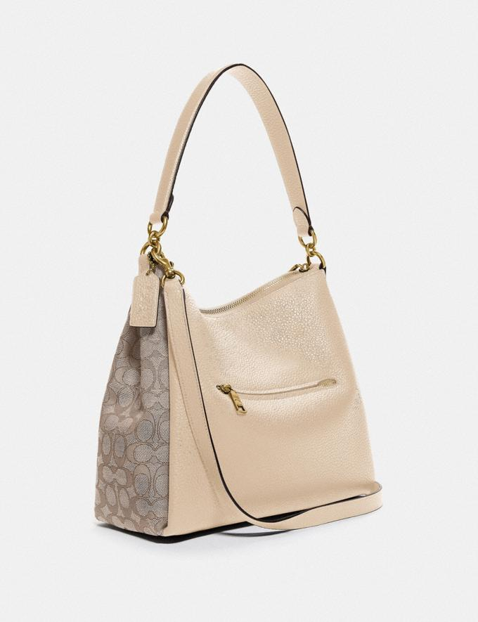 Coach Shay Shoulder Bag in Signature Jacquard B4/Stone Ivory Women Bags Shoulder Bags Alternate View 1