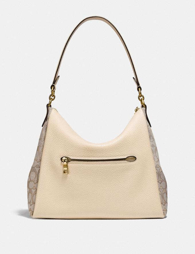 Coach Shay Shoulder Bag in Signature Jacquard B4/Stone Ivory Women Bags Shoulder Bags Alternate View 2