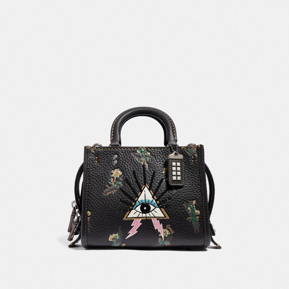 Coach Rogue 17 With Pyramid Eye - Women'S in Black/Pewter