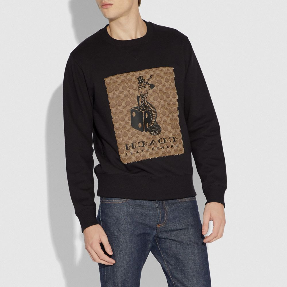 Coach Viper Room Signature Sweatshirt Alternate View 1