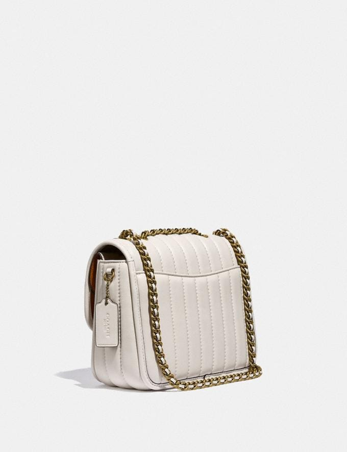 Coach Madison Shoulder Bag With Quilting Brass/Chalk New Women's New Arrivals Bags Alternate View 1