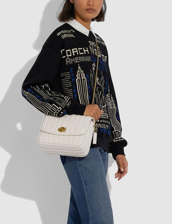 Coach Madison Shoulder Bag With Quilting Brass/Chalk New Women's New Arrivals Bags Alternate View 3