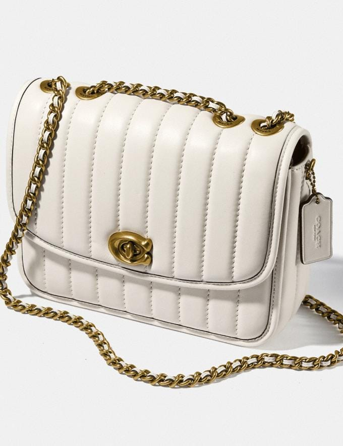 Coach Madison Shoulder Bag With Quilting Brass/Chalk New Women's New Arrivals Bags Alternate View 5