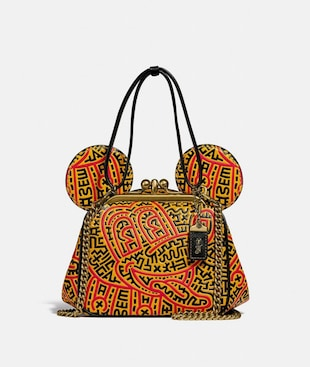 DISNEY MICKEY MOUSE X KEITH HARING KISSLOCK BAG