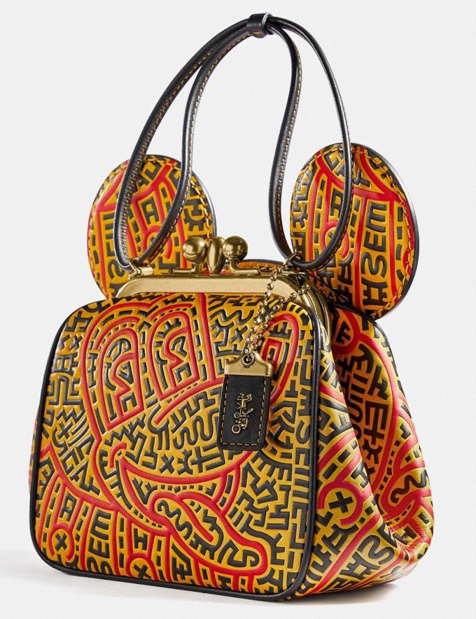 Coach Disney Mickey Mouse X Keith Haring Kisslock Bag B4/Black Multi Women Bags Shoulder Bags Alternate View 4