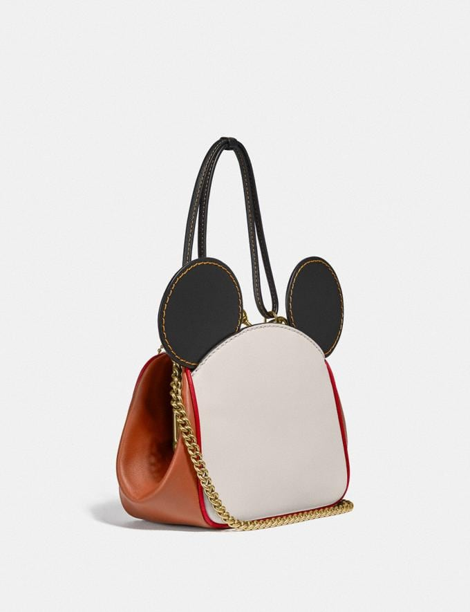 Coach Disney Mickey Mouse X Keith Haring Kisslock Bag Brass/Chalk 1941 Saddle New Featured Mickey x Keith Haring Alternate View 1