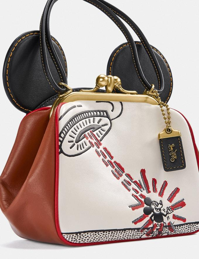 Coach Disney Mickey Mouse X Keith Haring Kisslock Bag Brass/Chalk 1941 Saddle New Featured Mickey x Keith Haring Alternate View 4