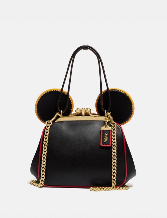 Coach Disney Mickey Mouse X Keith Haring Kisslock Bag B4/Black Multi Women Bags Shoulder Bags