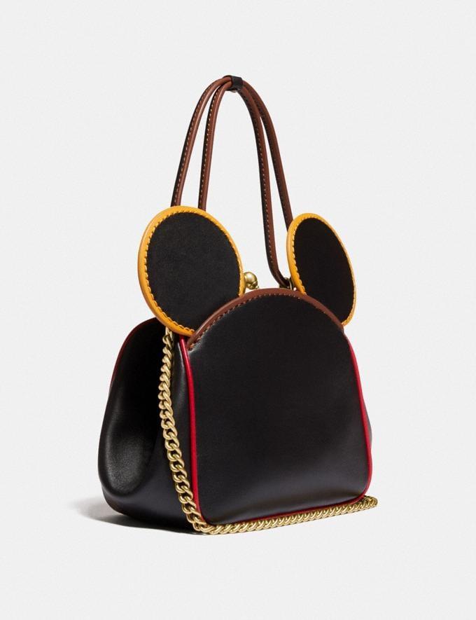 Coach Disney Mickey Mouse X Keith Haring Kisslock Bag B4/Black Multi Women Bags Shoulder Bags Alternate View 1