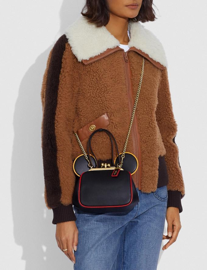 Coach Disney Mickey Mouse X Keith Haring Kisslock Bag B4/Black Multi Women Bags Shoulder Bags Alternate View 3