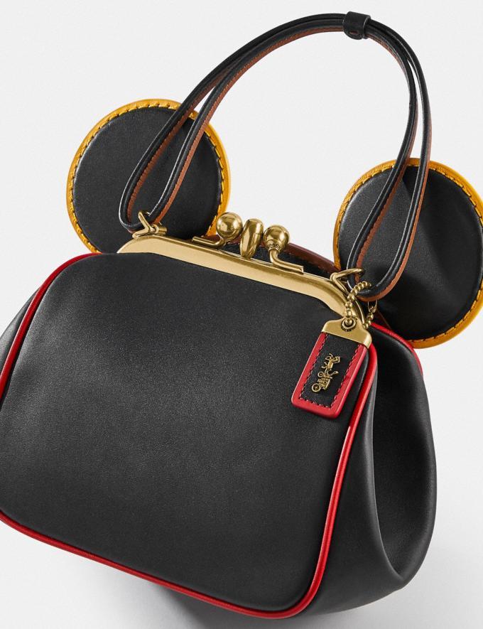 Coach Disney Mickey Mouse X Keith Haring Kisslock Bag B4/Black Multi Women Bags Shoulder Bags Alternate View 4