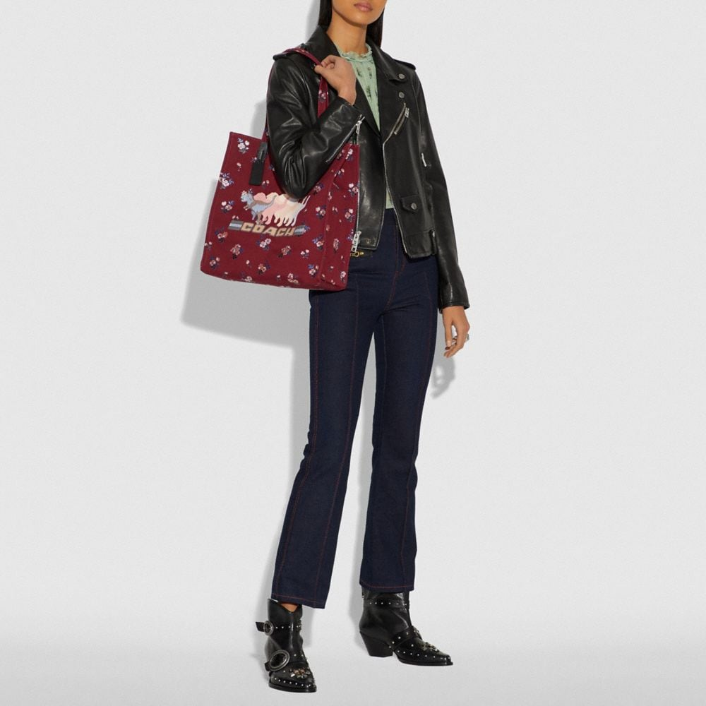 Coach Tote With Shadow Rexy Alternate View 3