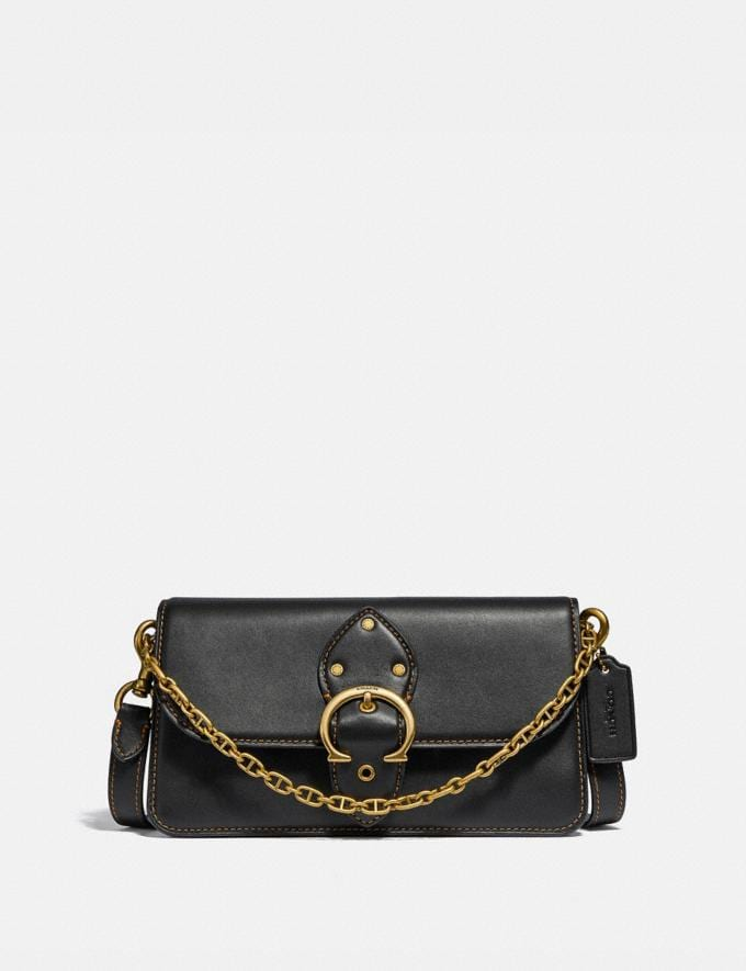Coach Beat Crossbody Clutch Brass/Black Women Bags Clutches