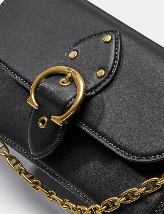 Coach Beat Crossbody Clutch Brass/Black Women Bags Clutches Alternate View 5