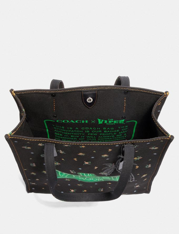 Coach Viper Room Tote Black/Pewter New Featured Online-Only Alternate View 3