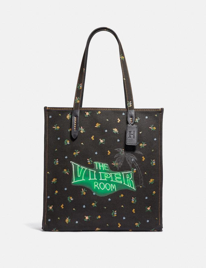 Coach Viper Room Tote Black/Pewter New Featured Online-Only