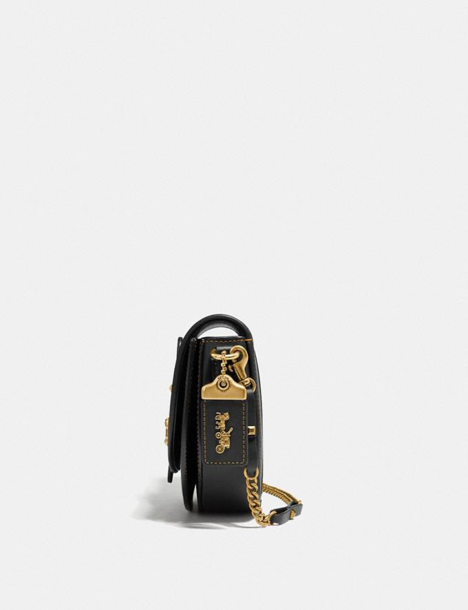 Coach Saddle 20 Black/Brass Women Bags Shoulder Bags Alternate View 1
