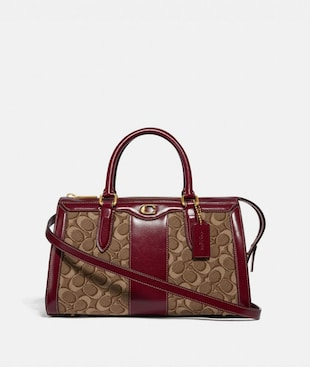 BOND BAG IN SIGNATURE JACQUARD