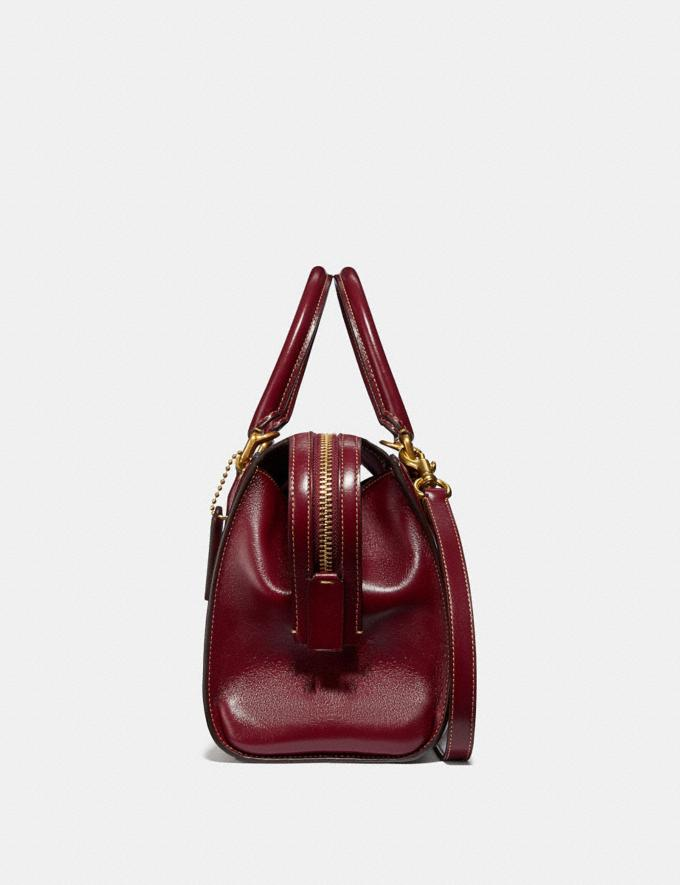 Coach Bond Bag in Signature Jacquard Tan/Scarlet/Brass New Featured Online Exclusives Alternate View 1