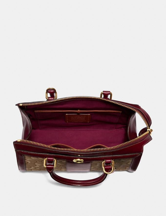 Coach Bond Bag in Signature Jacquard Tan/Scarlet/Brass New Featured Online Exclusives Alternate View 2