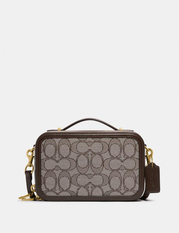 Coach Alie Belt Bag in Signature Jacquard B4/Oak Maple Women Bags Belt Bags