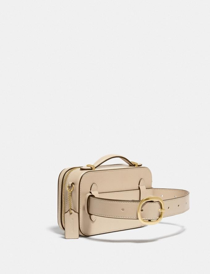 Coach Alie Belt Bag in Signature Jacquard B4/Stone Ivory  Alternate View 1