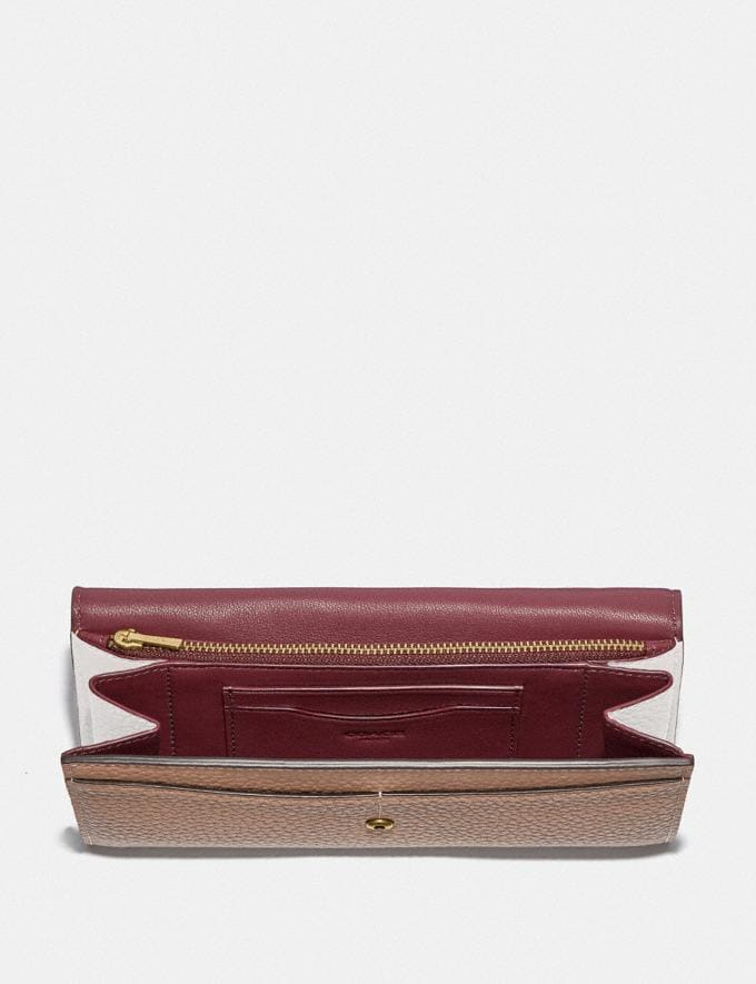 Coach Alie Wallet in Colorblock B4/Taupe Multi Women Small Leather Goods Large Wallets Alternate View 1