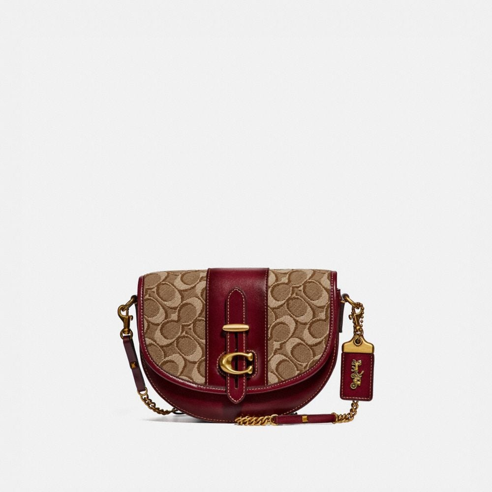 Coach Saddle 20 in Signature Jacquard