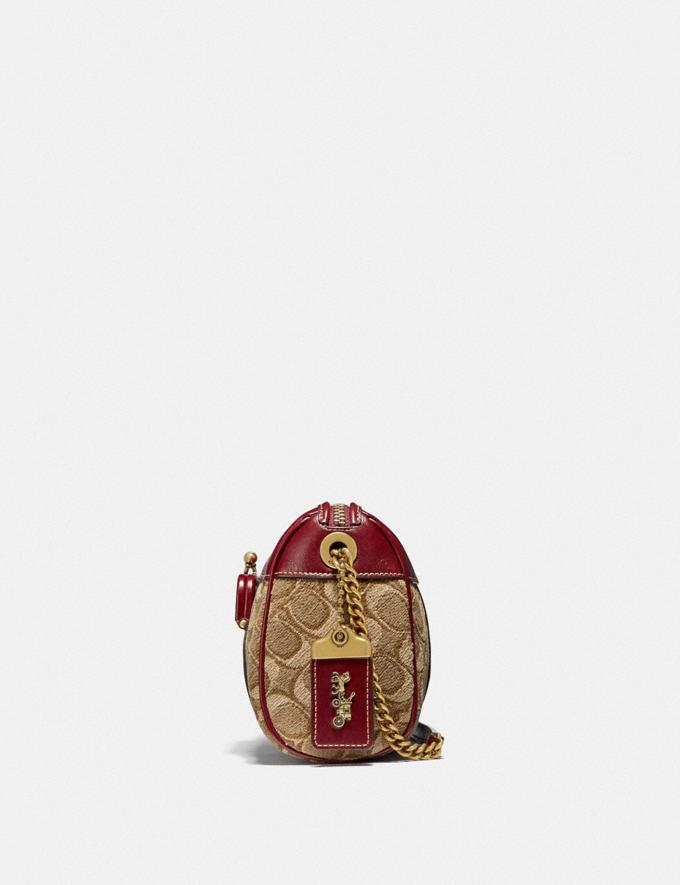 Coach Joni Crossbody in Signature Jacquard Tan/Scarlet/Brass New Women's New Arrivals Bags Alternate View 1