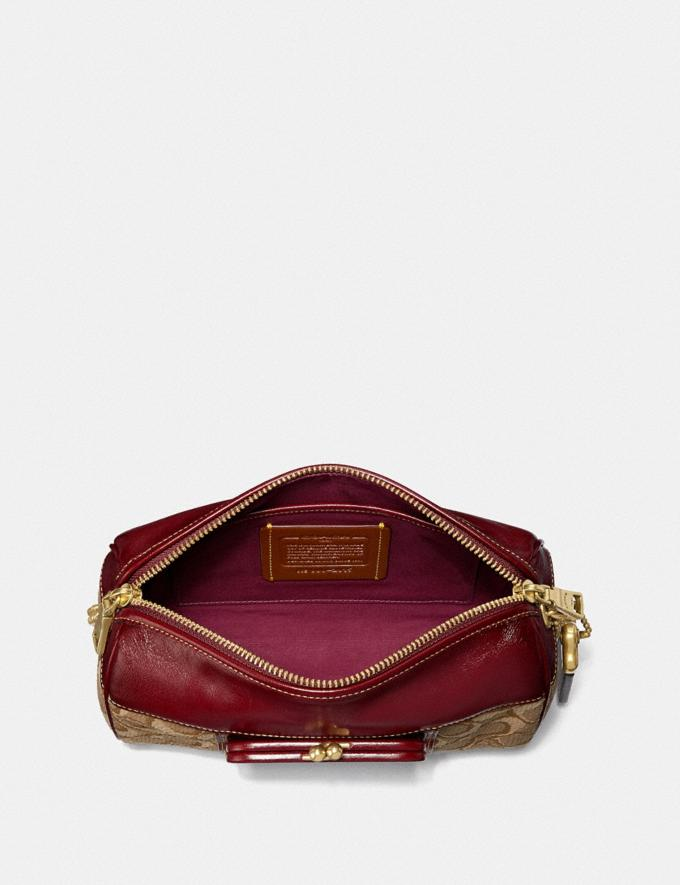 Coach Joni Crossbody in Signature Jacquard Tan/Scarlet/Brass New Women's New Arrivals Bags Alternate View 2